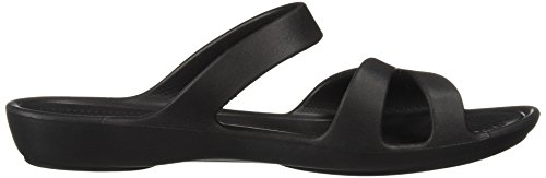 Femme Sandales Crocs Noir pour 203991 001 wxU0OInqaT