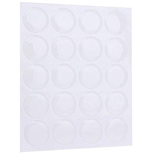 IGOGO 100 PCS Clear Epoxy Stickers Craft Bottle Caps Stickers for Hair Bows Pendants Scrapbooks 1 Inch