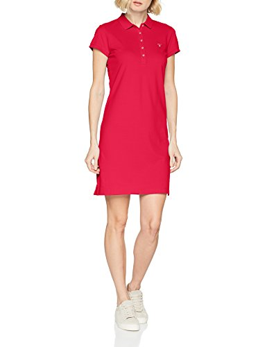 Donna Vestito Gant Rose Rosso Piqué Dress Red Original BqSw71IC