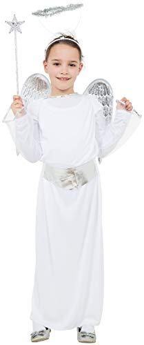 Girls Christmas Angel Gabriel Xmas Tree Fairy Nativity School Play Celebration Fancy Dress Costume Outfit (4-6 years)]()