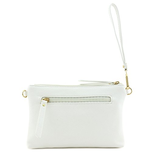 Multi-functional Wristlet Clutch and Crossbody Bag White by FashionPuzzle (Image #3)