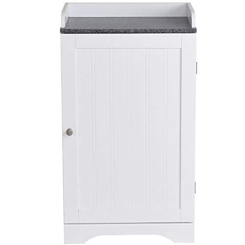 - Functional Single Door Bathroom Storage Cabinet Adjustable Shelf w/Ebook