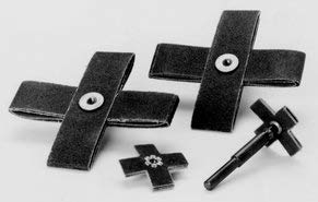 Paper-Backed Aluminum Oxide Cross Pad, Grit Number 100, Length 2'', 100/Pack (8 Pack)