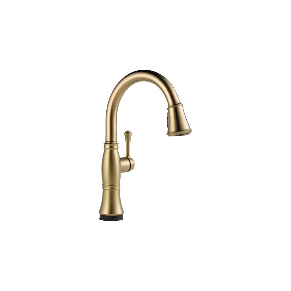 Delta Faucet 9197T CZ DST Cassidy, Single Handle Pull Down Kitchen Faucet with Touch2O Technology, Champagne Bronze