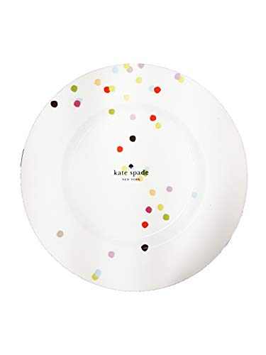 Kate Spade New York Market Street Collection Accent Plate, 9.3in (23.6cm), 4 Plate Set
