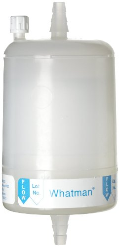 Whatman 6700-7504 Polycap TF 75 PTFE Membrane Capsule Filter with SB Inlet and Outlet, 60 psi Maximum Pressure, 0.45 Micron