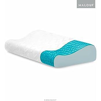 Amazon Com Z Gel Infused Dough Memory Foam Contour Pillow