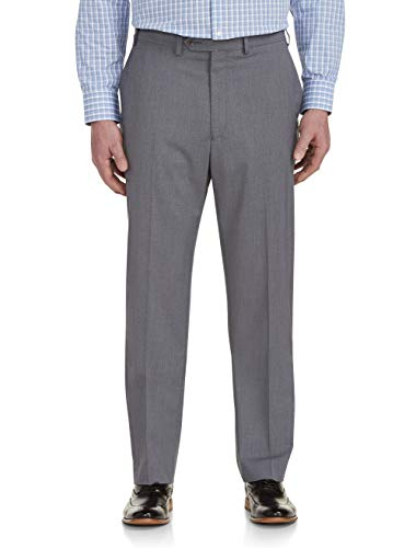 Beene Geoffrey Clothing Women (Geoffrey Beene Big and Tall Grid-Pattern Stretch Suit Pants Grey)