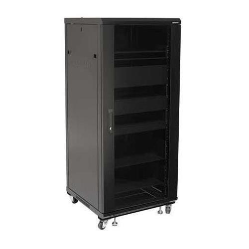 - Sanus CFR2127-B1 27U Rack with Shelves and Blanks Black