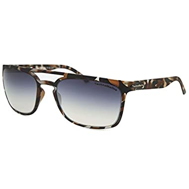 ab7be9bed9 Technomarine Manta Ray TMEW006 Sunglasses Rectangular Frame - Made in Italy  Grey Lens Brown camouflage