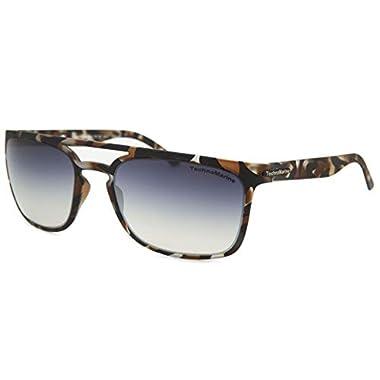 2fa37ed29eb Technomarine Manta Ray TMEW006 Sunglasses Rectangular Frame - Made in Italy  Grey Lens Brown camouflage