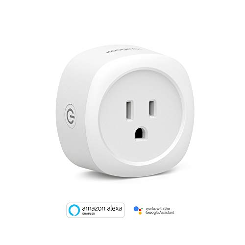 Smart Plug, Koogeek Wi-Fi Enabled Smart Home Outlet Compatible with Alexa and Google Assistant Remote Control Voice Control Timer No Hub Required White