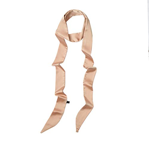 (Ribbon Scarf for Women Handbag Wrap Handle Satin Belt Sash Necktie Neck Scarf PSSD01 (Champagne))