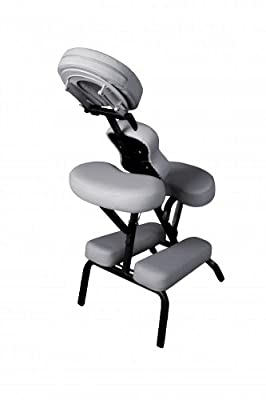 "Premium BestMassage White 4"" Portable Massage Chair Tattoo Spa Free Carry Case"