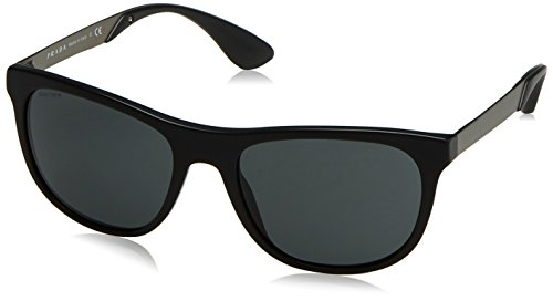Prada 04SS 1BO1A1 Matte Black 04SS Wayfarer Sunglasses Lens Category - Prada Sunglasses Wayfarer Mens