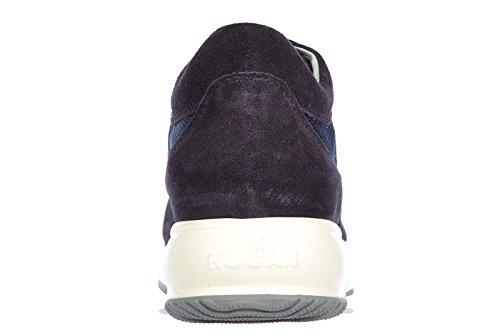 Hogan Zapatos Zapatillas de Deporte Niño EN Ante Nuevo Interactive Allacciato Bl