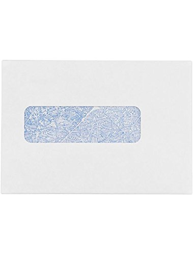 Professional Statement Window Envelopes (4.5 x 6.5) - 24lb. White w/ Security Tint (1000 Qty.) | Perfect for Tax Season, Mailing Checks, Invoices, Letterhead, Personal Letters, Statements | WS-3876-1M by Envelopes.com