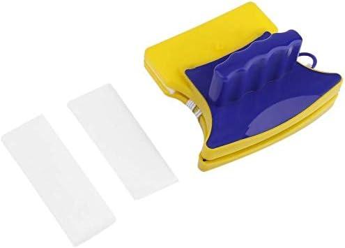 AA-SS Ventana magnética -JXSD Limpiador de limpiaparabrisas de Vidrio de Doble Lado Cepillo de Limpieza Raspador de Almohadilla Amarillo y Azul: Amazon.es: Hogar