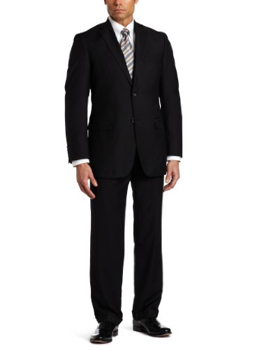 Geoffrey Beene Mens Black Solid Suit Separate Coat, Black, 40 Long by Geoffrey Beene (Image #1)
