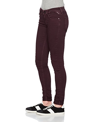Zip Femme Bordeaux 10 Replay Rouge Coin Jeans Luz Skinny 06XqaE