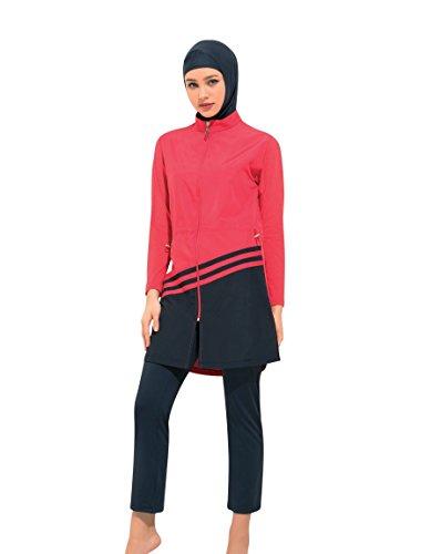 NBB Lingerie Women's Full Coverage Modest Swimsuit - 4 Piece Muslim Swimwear Burkini, 50988-XL by NBB Lingerie