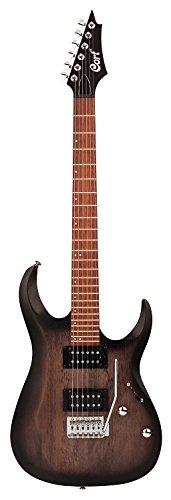 Cort X Series X100 Electric Guitar, Open Pore Black Burst
