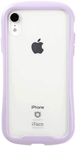iFace Reflection Pastel iPhone XR ケース クリア 強化ガラス [パープル]