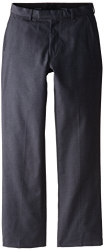 Boys Dress Twill Pant (Calvin Klein Dress Up Big Boys' Fine Line Twill Pant, Dark Charcoal Heather Grey,)