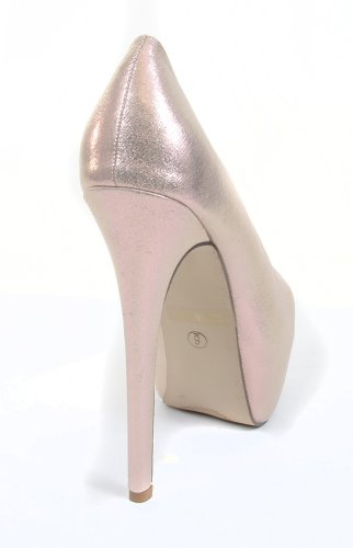 Pump Toe Bridal Stiletto Wedding Iridescent Funky Fourever Platform Almond Mesh fSqCzSHW