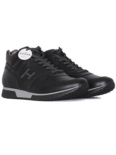Hogan Hombre HXM1980O430DSVB999 Negro Cuero Zapatillas Altas