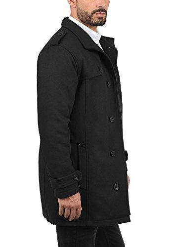Manteau Homme Parka 70155 De Col Laine Droit D'hiver Warren Black Longue Veste Blend 6qZ8Tw55