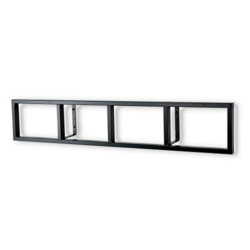 Modern Wall Mount Cd DVD Media Rack Storage Metal Shelf Organizer (Black)
