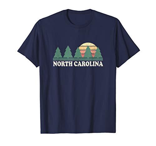 - North Carolina NC T-Shirt Vintage 70s Retro Graphic Tee