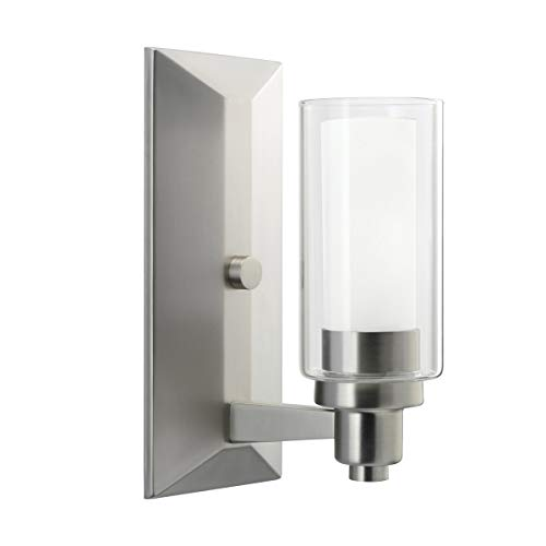 Wall Sconces 1 Light Fixtures with Brushed Nickel Finish Medium Bulb Type 5