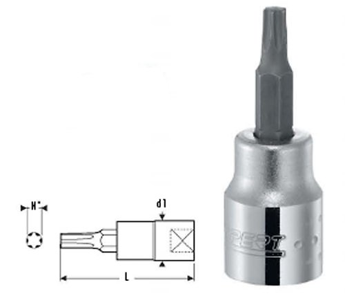 Britool Expert E030918 3/8 Dr. Torx Screwdriver Socket T30 by BRITOOL EXPERT