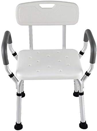MIAOLIDP Senioren Badestuhl Mutterschaft Bad Badestuhl deaktiviert Badehocker Badestuhl mit Armlehne Rückenlehne Duschsitz, Sitz zur Wandmontage