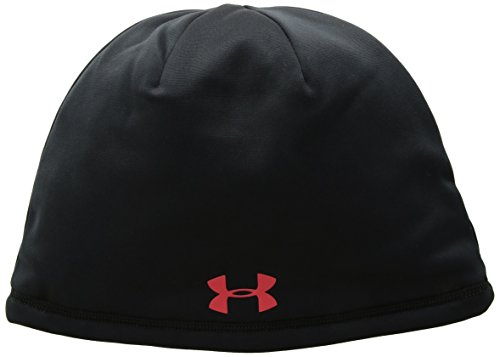 Under Armour Men's ColdGear Reactor Elements Beanie, Black (002)/Red, One Size