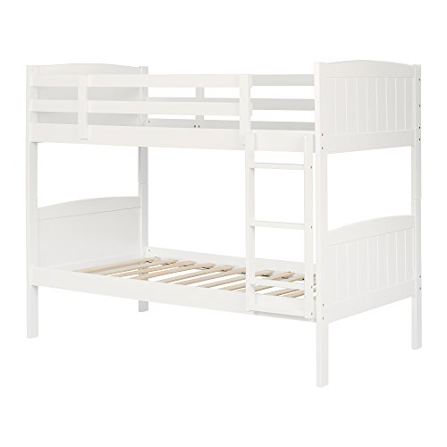 South Shore 11840 Savannah Solid Wood Bunk Beds Twin Pure White ()