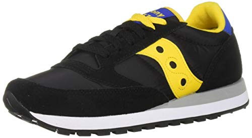 Saucony Originals Men's Jazz Original Sneaker, Black/Yellow/Blue, 10.5 M US