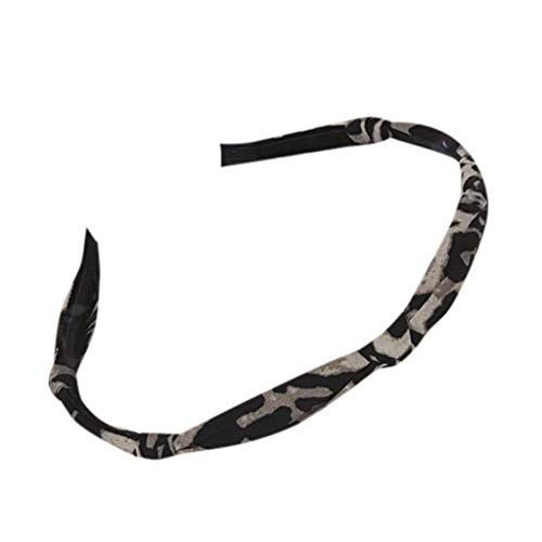 hositor Headbands for Women, Women's Leopard Fashion Casual Headband Headband Hair Strap Gray