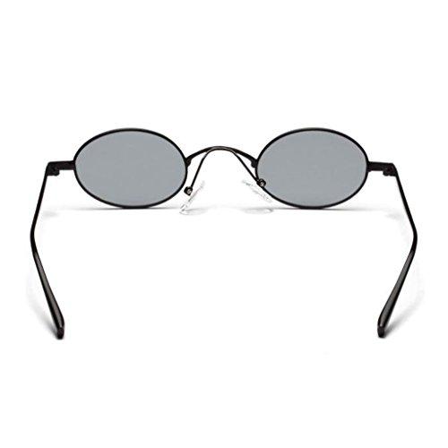 Sharplace Vintage Protection Ronde Noir Soleil 400 UV Lunettes Classique de Cadre Rétro qfx4HwpqT