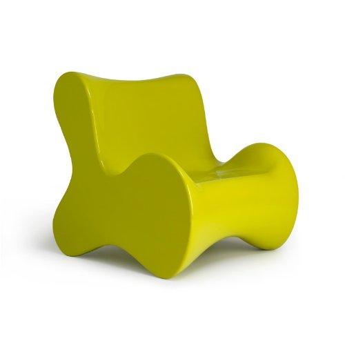 Vondom Doux Sessel, gelbgrün glänzend