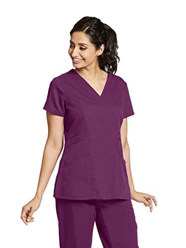 Grey's Anatomy 41452 V-Neck Top Currant XS