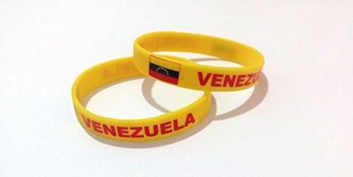 Unisex País Bandera nacional de silicona pulsera de goma de moda pulsera brazalete (Venezuela): Amazon.es: Deportes y aire libre