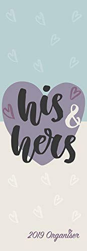(2019 Slim Calendar - 2019 His and Hers Monthly Planner, Couples Theme, Slimline Sized, 5.7 x 16.5)