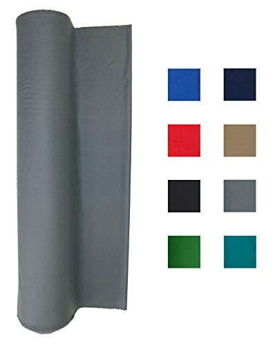 21 Ounce Pool Table Felt - Billiard Cloth - for a 7 Foot Table Light Gray