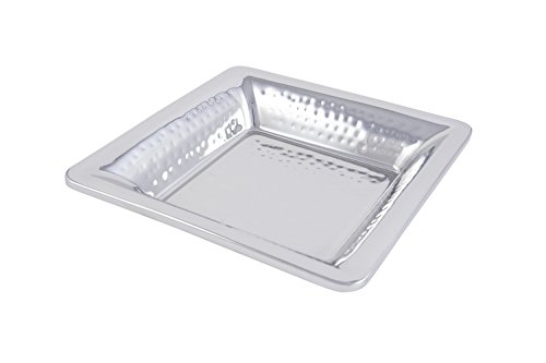 Bon Chef 9322H Stainless Steel Double Wall Gel Filled Cold Wave Platter, Hammer Finish, 12
