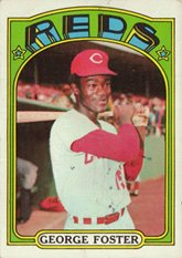1972 Topps Regular (Baseball) card#256 George Foster of the Cincinnati Reds Grade Excellent to Excellent Mint