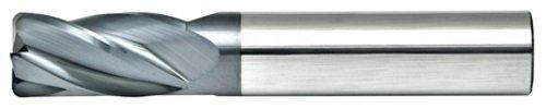 Alfa Tools CRM73021AL 3//8X3//8 4 Flute Corner Radius Single End AlTiN Carbide Mill Made In USA,