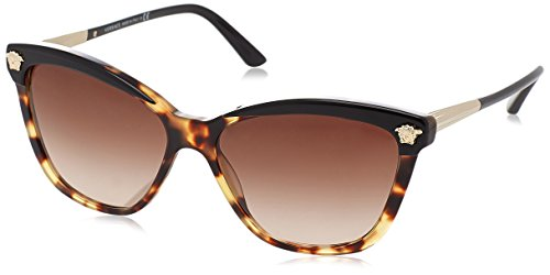 Versace VE4313 5177/13 Black / Havana VE4313 Cats Eyes Sunglasses Lens - Cat Versace Sunglasses Eye